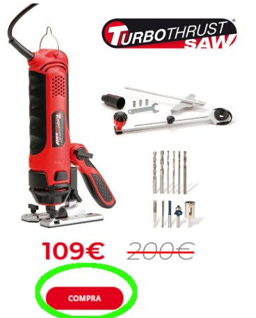 Turbo Thrust Saw Pro prezzo