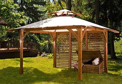 Mio giardino Waikiki gazebo in legno con copertura