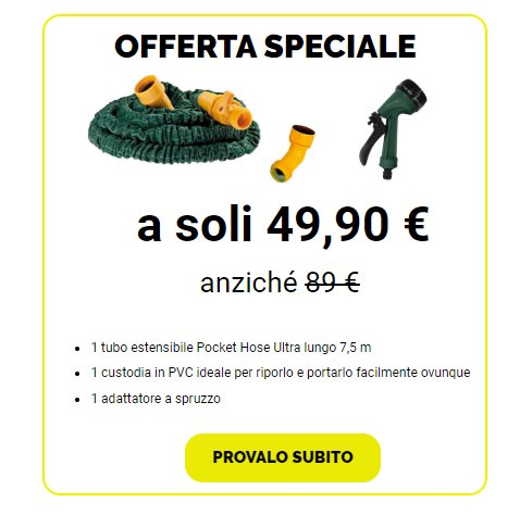 pocket hose ultra prezzo