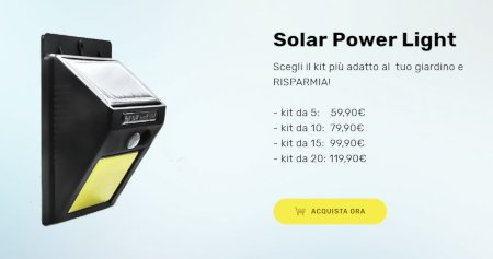 solar power light prezzo