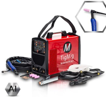 Saldatrice Inverter tig TM 200 Digital Alu