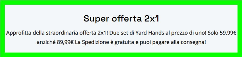 yard hands prezzo